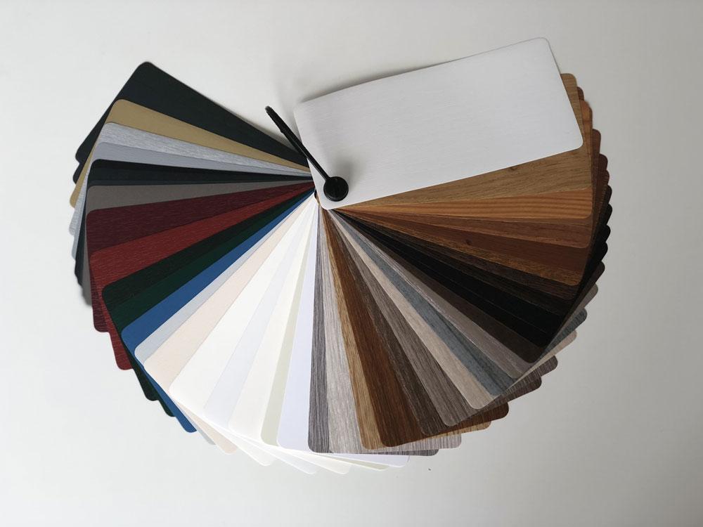 Mazzetta colori serramenti PVC